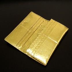 黄金ダイヤモンドパイソン無双長財布